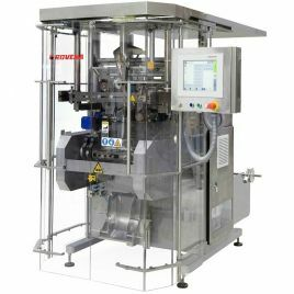 Bagging machines for dry and powdered products