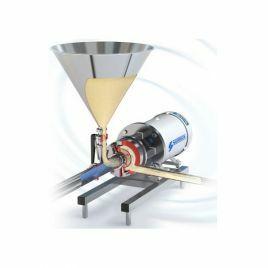 Flashmix powder into liquid mixers