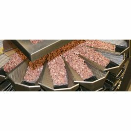 Multihead meat weighers